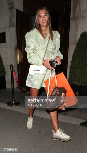 Arabella Chi seen on a night out at IT London restaurant in Mayfair on September 22, 2020 in London, England.