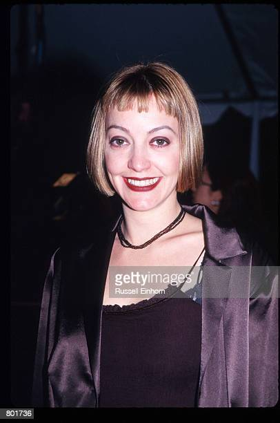 Arabella Field poses December 6 1997 in Los Angeles CA Celebrities attended the premiere of the film 'As Good As It Gets' starring Jack Nicholson and...