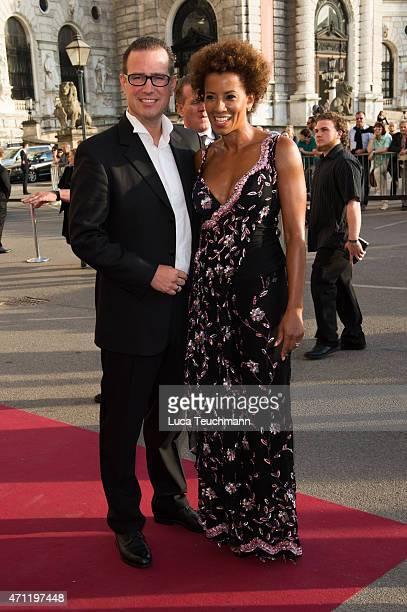 Arabella Kiesbauer and Florens Eblinger attend the ROMY Award 2015 on April 25 2015 in Vienna Austria