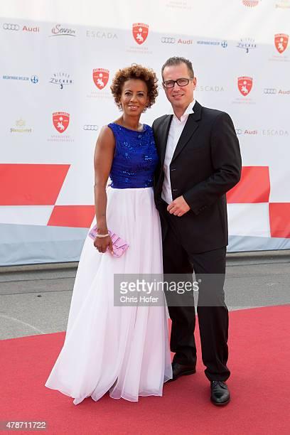Arabella Kiesbauer and her husband Florens Eblinger attend the gala event 450 years Spanische Hofreitschule on June 26 2015 in Vienna Austria