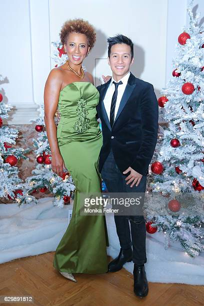 Arabella Kiesbauer and Vincent Bueno attend the Energy for Life Christmas ball for Children at Hofburg Vienna on December 14 2016 in Vienna Austria