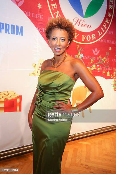 Arabella Kiesbauer attends the Energy for Life Christmas ball for Children at Hofburg Vienna on December 14 2016 in Vienna Austria