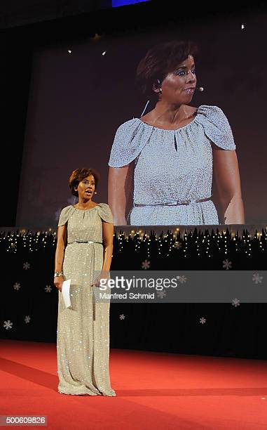 Arabella Kiesbauer performs at the Energy For Life christmas ball for children at Hofburg Vienna on December 9 2015 in Vienna Austria
