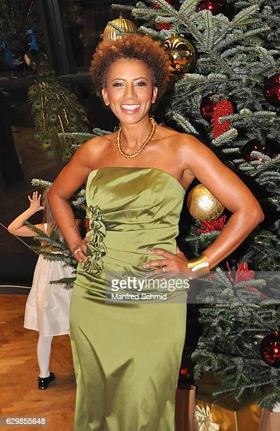 Arabella Kiesbauer poses during the Energy for Life Christmas ball for Children at Hofburg Vienna on December 14 2016 in Vienna Austria