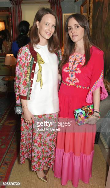 Arabella Musgrave and Tania Fares attend an intimate dinner hosted by Alice NaylorLeyland for friends to celebrate her Garden Rose Cologne...