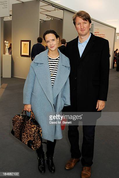Arabella Musgrave and Tom Hooper attend the Frieze Masters VIP Preview in Regent's Park on October 15 2013 in London England
