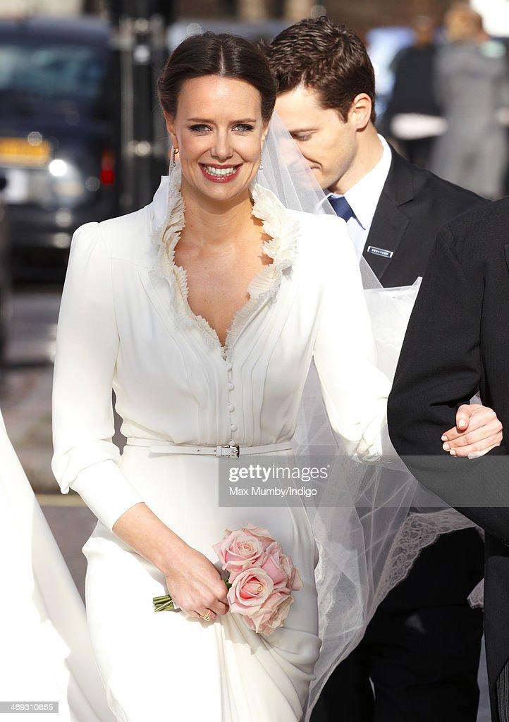 The Wedding Of Arabella Musgrave And George Galliers-Pratt : Nachrichtenfoto