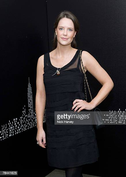 Arabella Musgrave attends the DKNY Night Fragrance launch on December 12 2007 in London England