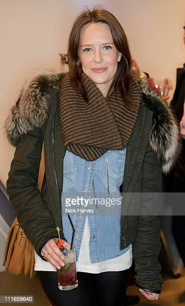 Arabella Musgrave attends the launch of Oxygen Boutique's popup shop at Oxygen Boutique on February 8 2011 in London England