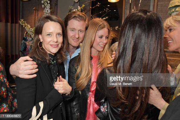 Arabella Musgrave Tom Naylor Leyland Violet Henderson and Lady Emily Compton attend the launch of the second collaboration between Misela Alice...