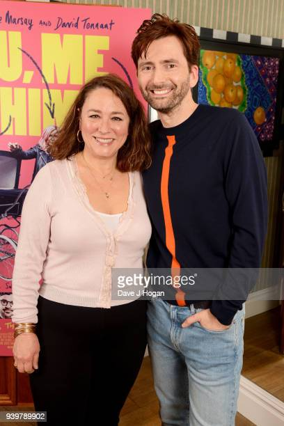 Arabella Weir and David Tennant attend a special screening of 'You Me And Him' at Charlotte Street Hotel on March 29 2018 in London England