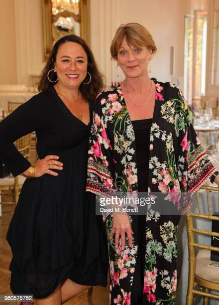 Arabella Weir and Samantha Bond attend the mothers2mothers Midsummer Soiree at One Belgravia on June 21 2018 in London England