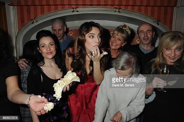 Arabella Weir Debbie Chazen Katherine Rooney Kelly Brook Janie Dee Jan Leeming Rosalind Knight Yvonne Riley and Helen Lederer celebrates Kelly...