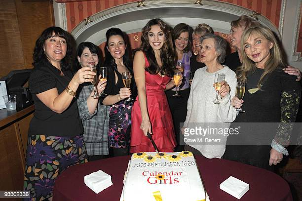 Arabella Weir Debbie Chazen Katherine Rooney Kelly Brook Janie Dee Jan Leeming Rosalind Knight Yvonne Riley and Helen Lederer celebrates Kelly...