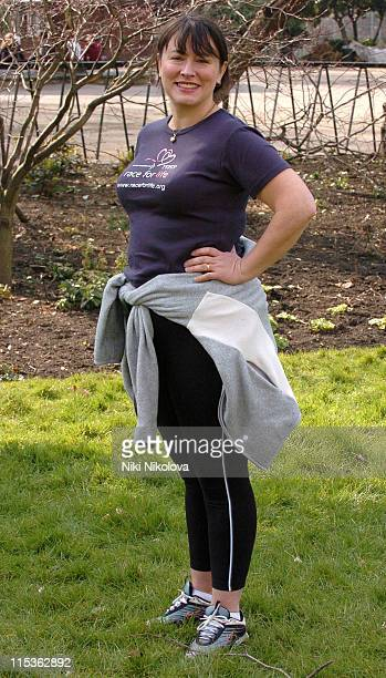 Arabella Weir during Cancer Research UK's Race For Life March 17 2005 at Lincoln's Inn Fields in London Great Britain