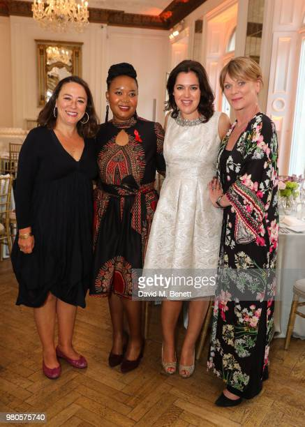 Arabella Weir Samantha Bond Liako Serobanyane mothers2mothers Mentor Mother from Lesotho and Emma France host the mothers2mothers Midsummer Soiree at...
