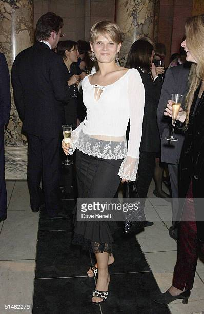 Arabella Zamoyska Tobias attends the party to celebrate British artist Catherine Walker's 25 years with the V&A held at the Central Dome on January...