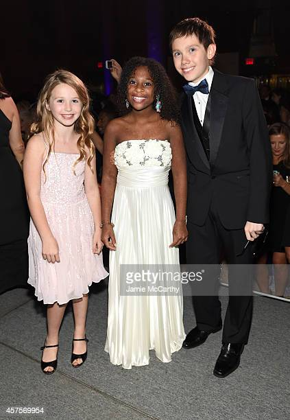 Arabelle Jozlyn and Jaiman of Children's National Health System attend Angel Ball 2014 hosted by Gabrielle's Angel Foundation at Cipriani Wall Street...