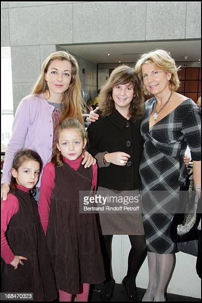 Arabelle Mahdavi daughters Jade and Ambre Mrs Alain Flammarion and daughter Victoria Arop Gala at the Bastille Opera for Reve D'Enfants Coppelia...