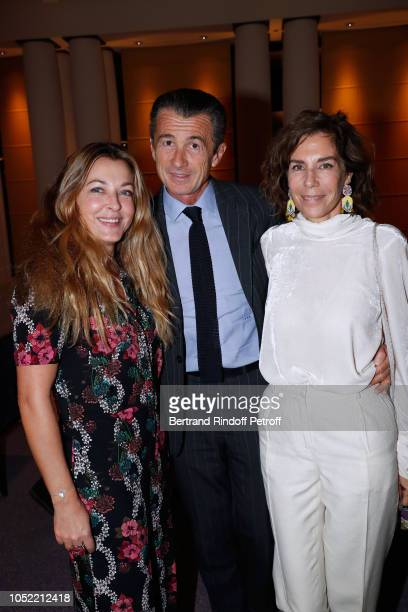 Arabelle Mahdavi Francois Sarkozy and Christine Orban attend the 'Vive La Mode' Exhibition Preview Unpublished exhibition of photographic works from...
