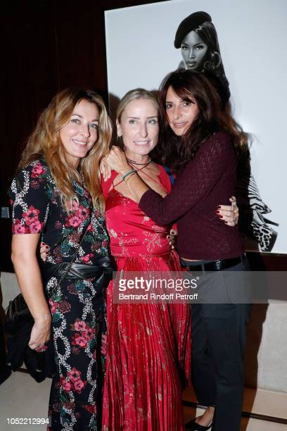 Arabelle Mahdavi Paola d'Assche and Valerie Bernard attend the 'Vive La Mode' Exhibition Preview Unpublished exhibition of photographic works from...