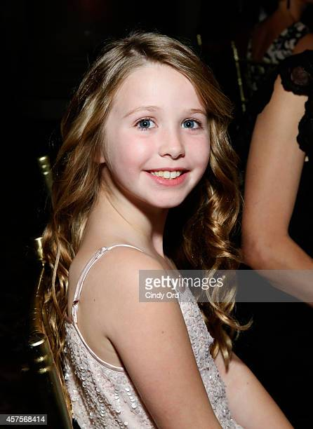 Arabelle of Children's National Health System speak onstage during Angel Ball 2014 hosted by Gabrielle's Angel Foundation at Cipriani Wall Street on...