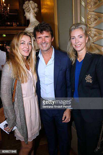 Arabelle Reille Mahdavi PaulEmmanuel Reiffers and Pauline Favier attend Cyril Karaoglan receives the Medal of Commander of Arts and Letters at Opera...