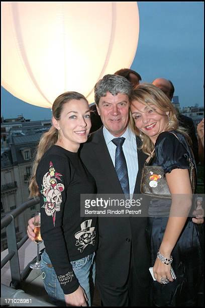 Arabelle Reille Mahdavi Yves Carcelle and Olga Molbieva Exhibition launch La Tentation de L'espace at the Louis Vuitton space in Paris