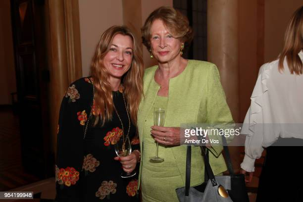 Arabelle ReilleMahadavi and Marie Monique Steckel attend the Launch of the Paris Opera 350th Anniversary in New York with the American Friends of the...