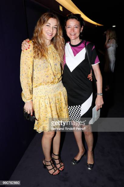 Arabelle ReilleMahdavi and her sister attend the Stephane Rolland Haute Couture Fall Winter 2018/2019 show as part of Paris Fashion Week on July 3...