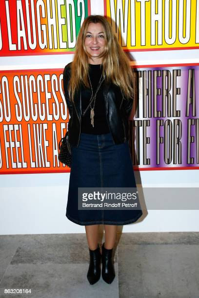 Arabelle ReilleMahdavi attends the Art Exhibition Reflexion Redux of Benjamin Millepied and Barbara Kruger at Studio des Acacias on October 19 2017...