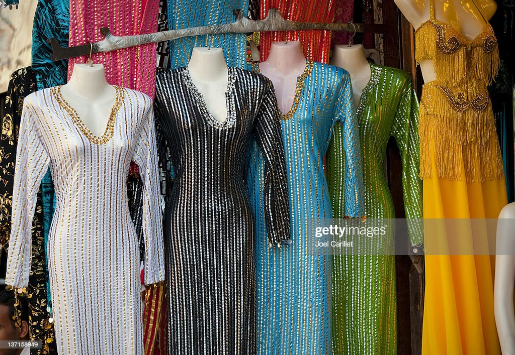 Arabesque Dresses At The Khan Alkhalili Bazaar In Cairo