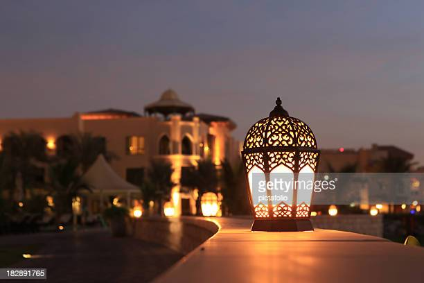 arabesque lantern - lamp stock photos and pictures