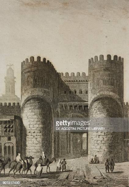 Arabian Cairo Gate Egypt engraving by Lemaitre from Egypte ancienne by Jacques Joseph ChampollionFigeac L'Univers pittoresque published by Firmin...