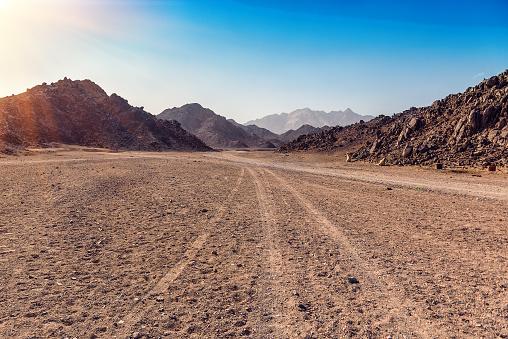 Arabian desert in Egypt 912607058