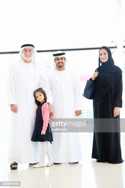 アラビア家族でのショッピングモール