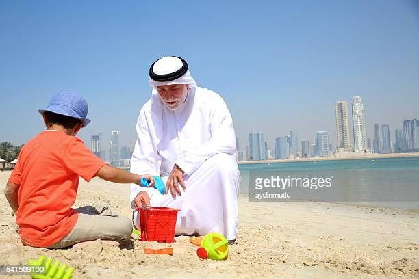 Arabian Großeltern und Enkelkinder