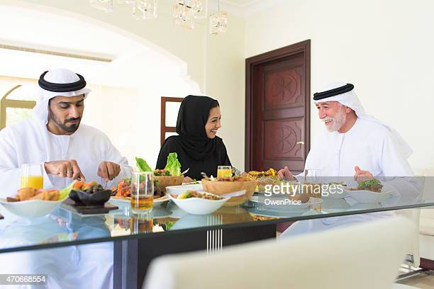 Arabic family Enjoying lunch