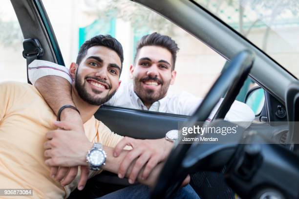 arabic guy in car - jordanian workforce stock pictures, royalty-free photos & images