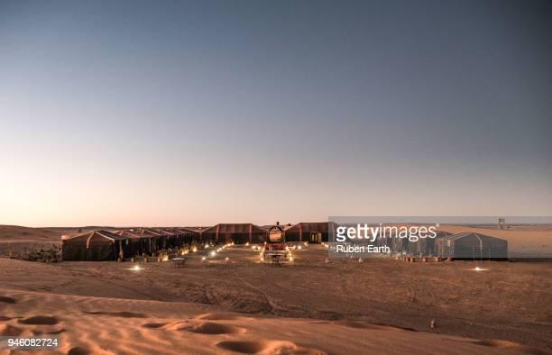 Arabic haima tents lodge in the Sahara Desert
