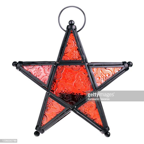 arabic lantern in the form of a five-pointed star. - ramadan decoration stock pictures, royalty-free photos & images