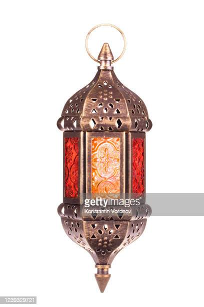 arabic lantern isolated. - ramadan decoration stock pictures, royalty-free photos & images
