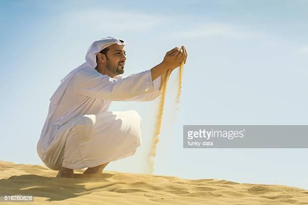 Arabic man in the desert