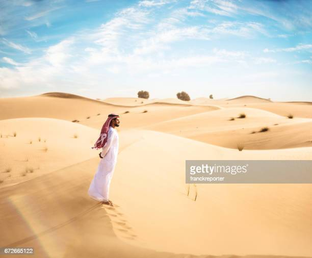 arabic man observing the heritage