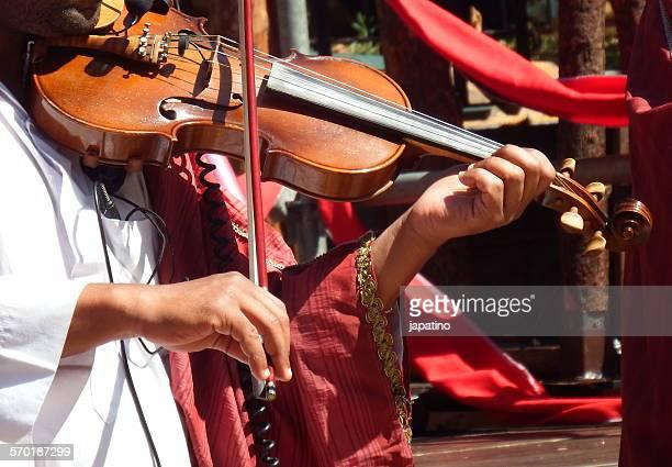 Arabic musician. Fiddle