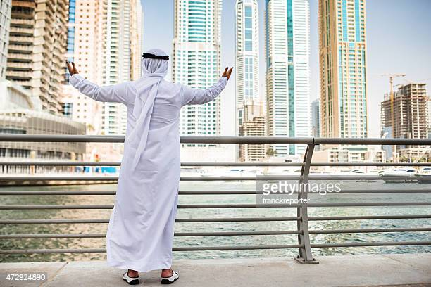 arabic sheik looking at his heritage