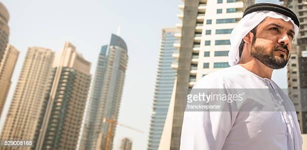 arabic sheik portrait on the city