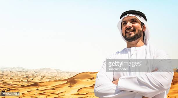 arabic sheik portrait on the desert