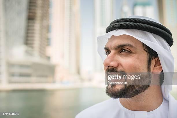 arabic sheik portrait smiling