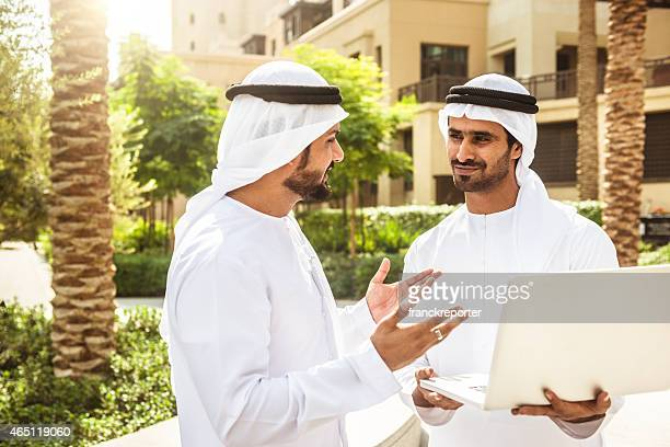 arabic sheik with the technology